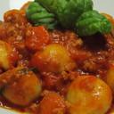 Gnocchi di Patate al Ragù di Cinghiale e Mozzarella